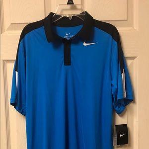 Nike Dri-Fit Polo Shirt Boys XL Blue and Black